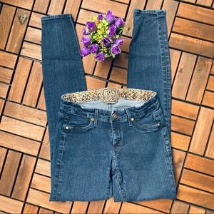 Rich & Skinny Womens Jeans Dark Blue Color Size 25